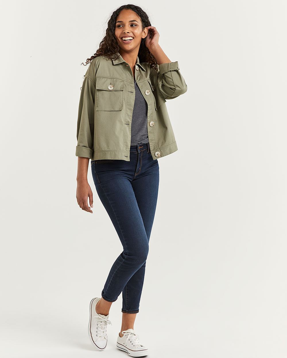 Cotton Jacket with Pockets