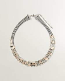 3-Tone Multi Layers Necklace
