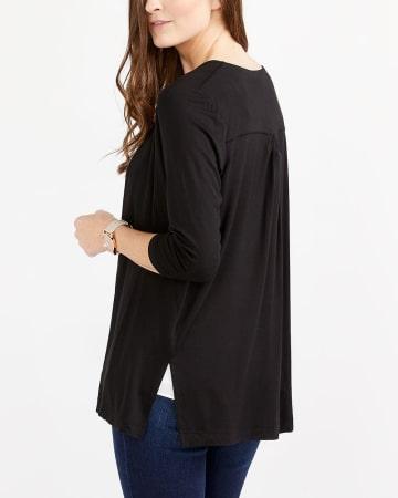 ¾ Sleeve Open Cardigan