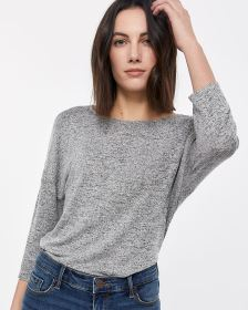 3/4 Sleeve Reversible Wrap Tee