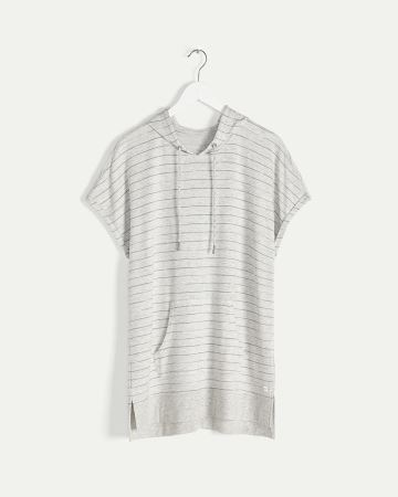 Hooded Short Sleeve Striped Tee Hyba