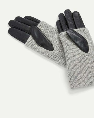 Foldover Leather Gloves