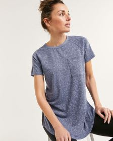 Short Sleeve Crew Neck T-shirt Tunic Hyba