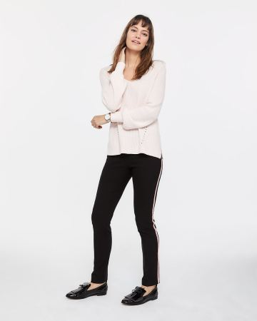 The Tall Iconic Straight Leg Pants with Contrasting Band