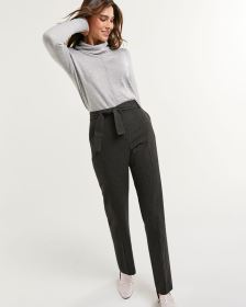 High Rise Tapered Pants with Removable Sash