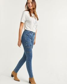 High Rise Cargo Jeans