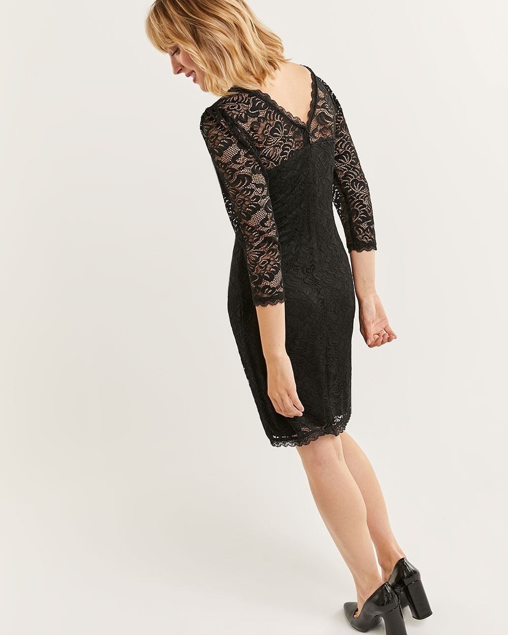 3/4 Sleeve Lace Bodycon Dress