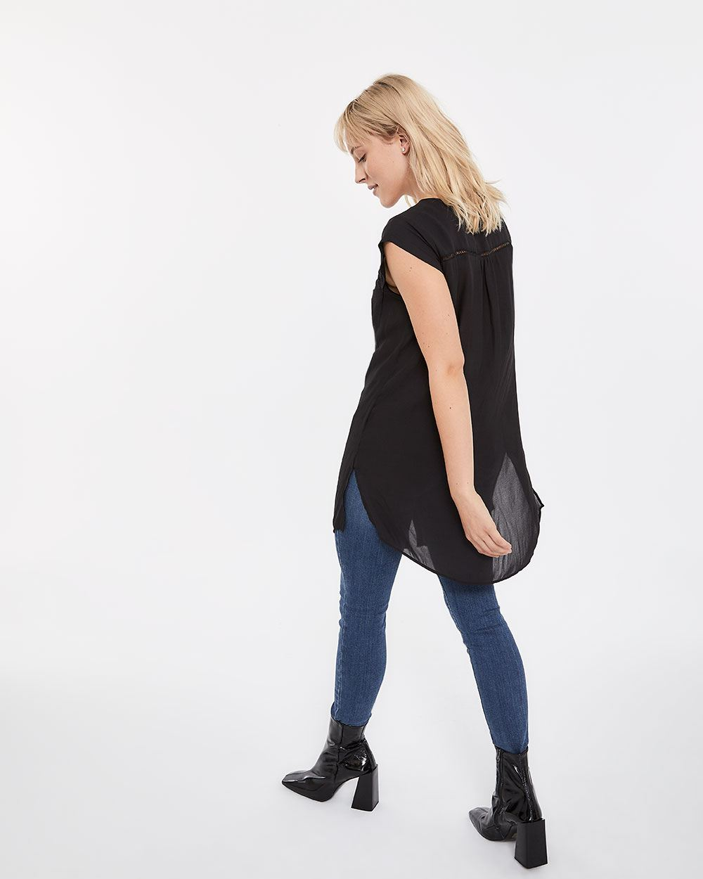 Long Blouse with Fagoting
