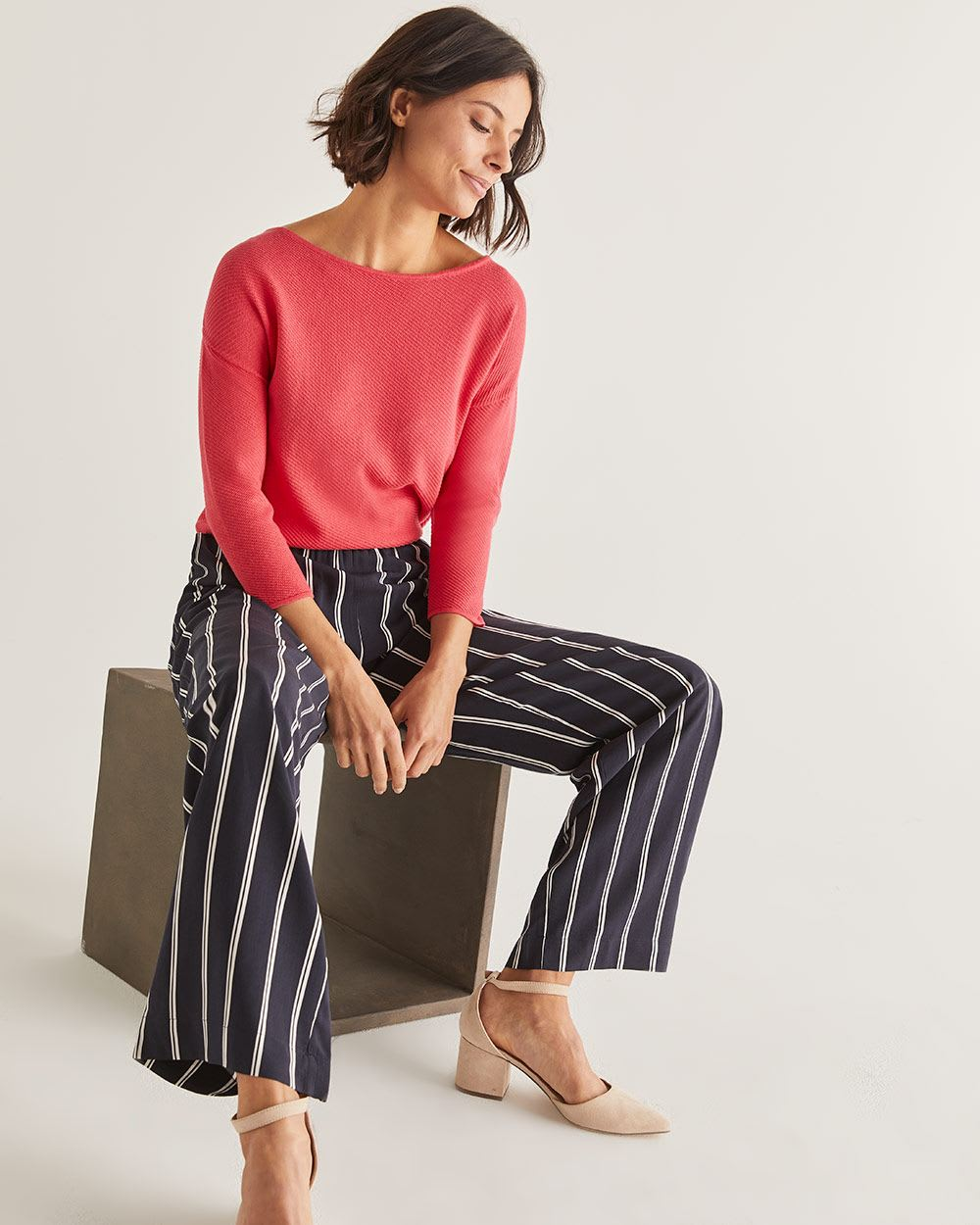 Printed Wide Leg Pants - Tall