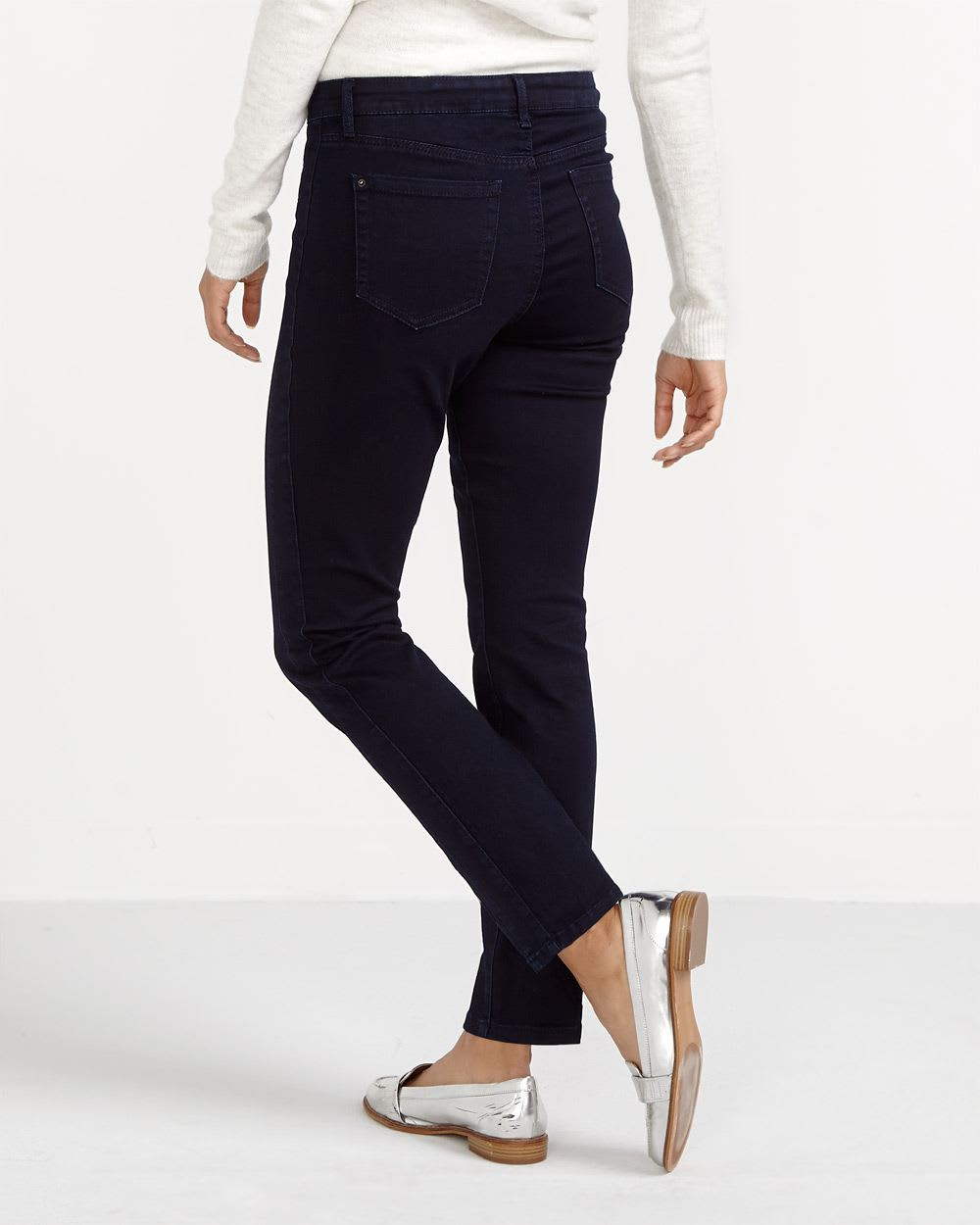 The Signature Soft Zip Skinny Jeans