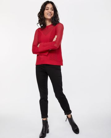 Pagode Sleeve Open Stitch Sweater