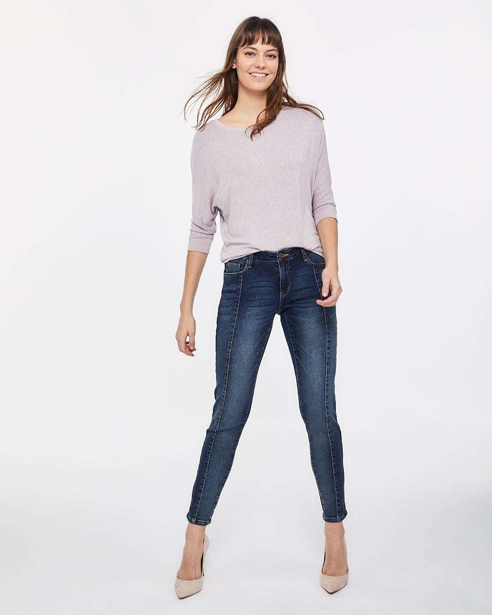 Front Seam Skinny Jeans