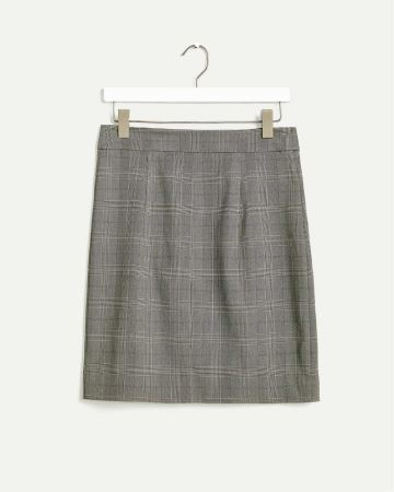 Glen Plaid A-Line Skirt The Iconic