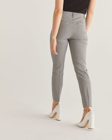 The Iconic Gingham-Printed Ankle Pants