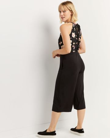 Gaucho Pull On Pants with Drawstring