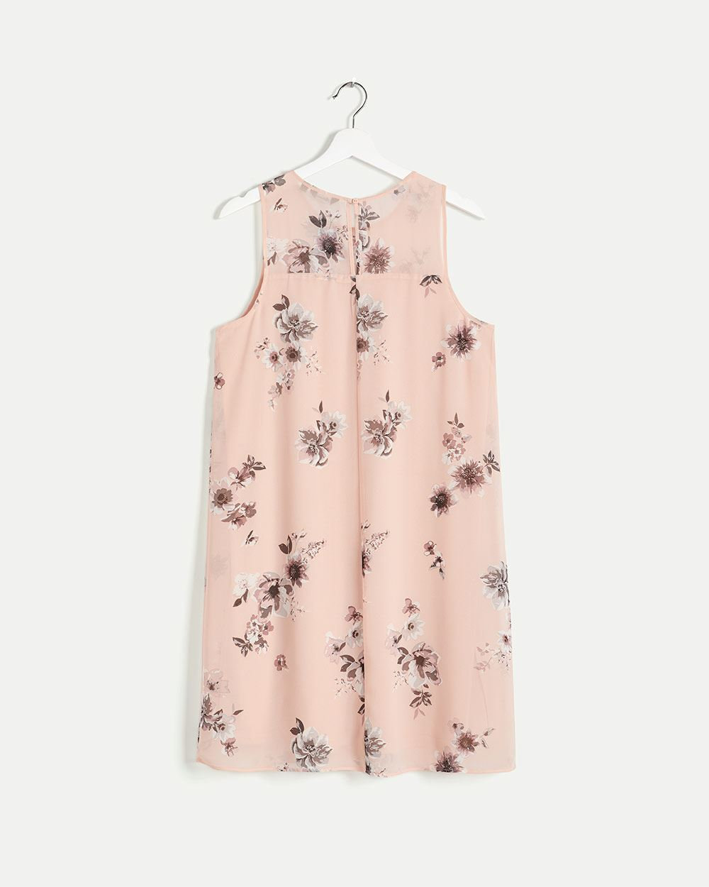 Sleeveless Floral Print Swing Dress