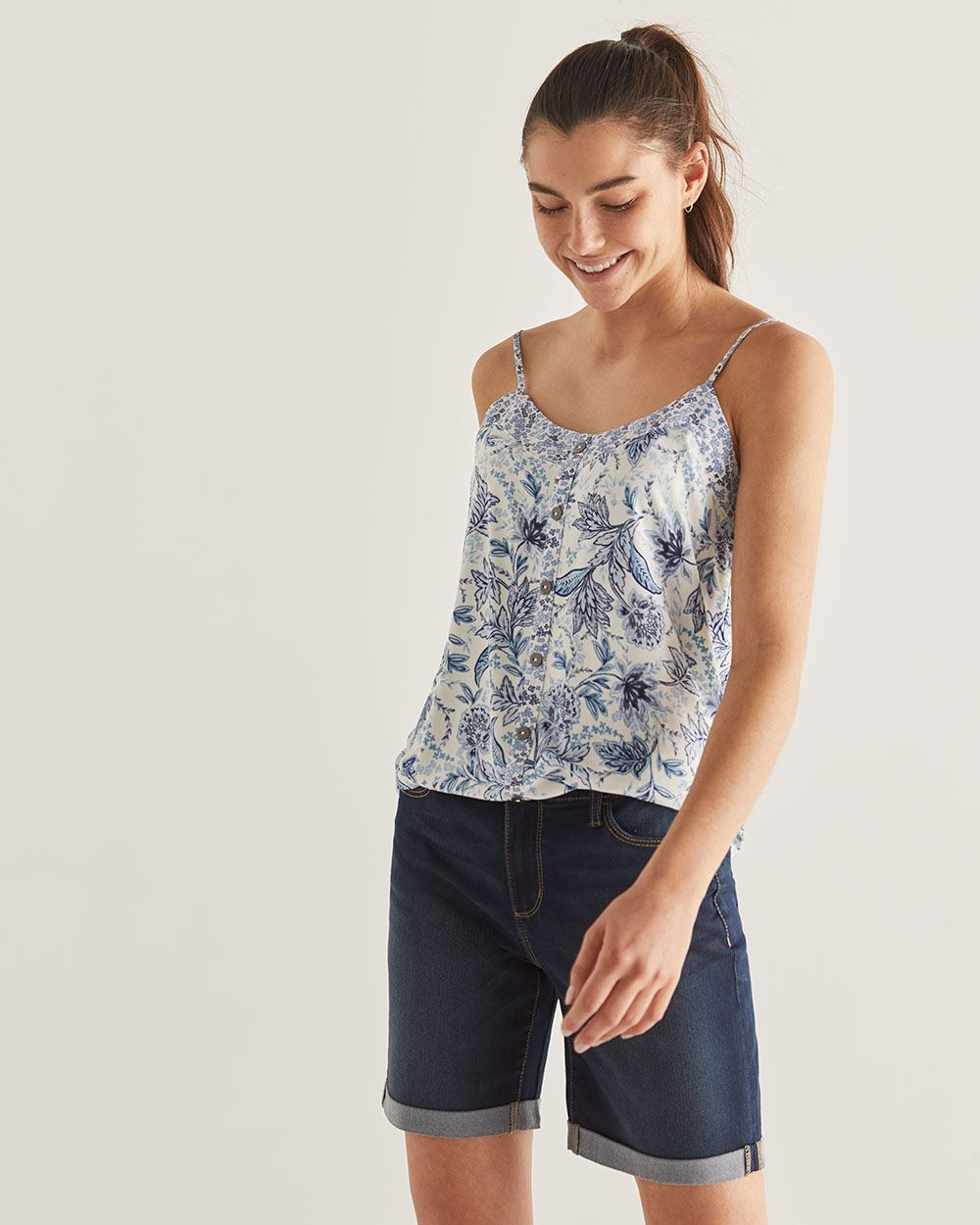 Printed Sweetheart Cami