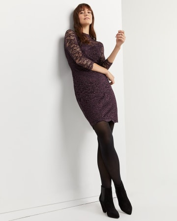Long Sleeve Bodycon Lace Dress