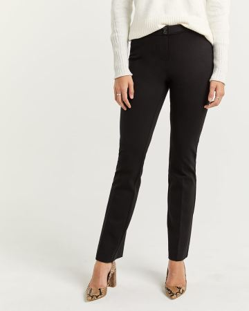Black Bootcut Pull On Pants The Modern Stretch