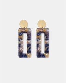 Rectangle Resin Drop Earrings