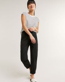 Poplin Cargo Pants with Drawstring - Petite