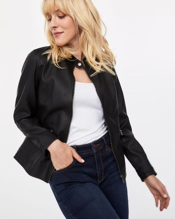 8cb3ec1fcd1 Faux Leather Jacket