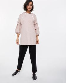 3/4 Puff Sleeve Sweatshirt Tunic