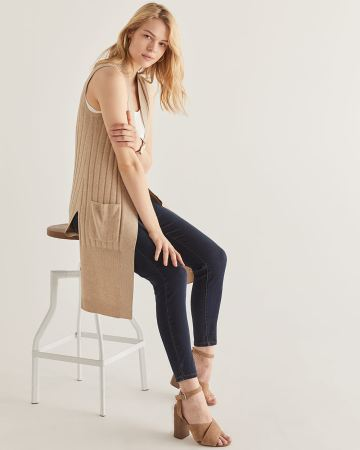 Sleeveless Duster Cardigan