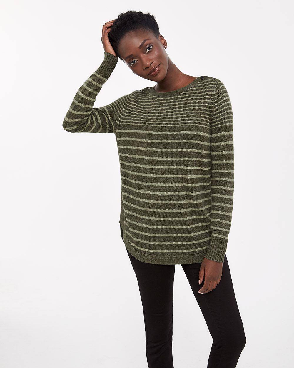 6593baeb67fa Boat Neck Striped Sweater