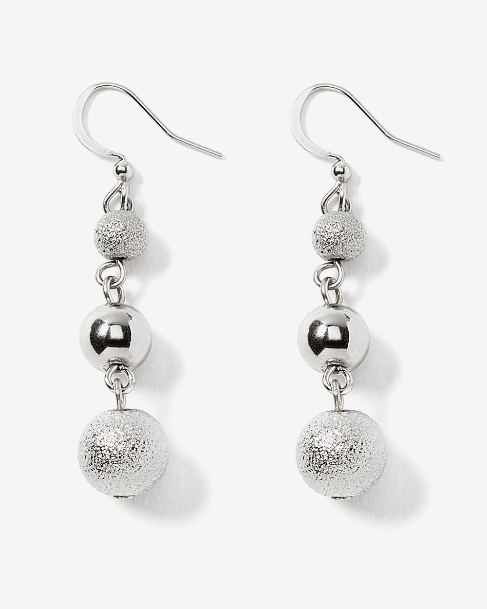 3-piece Drop Ball Earrings