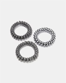 Set of 3 Large Coil Hair Elastics