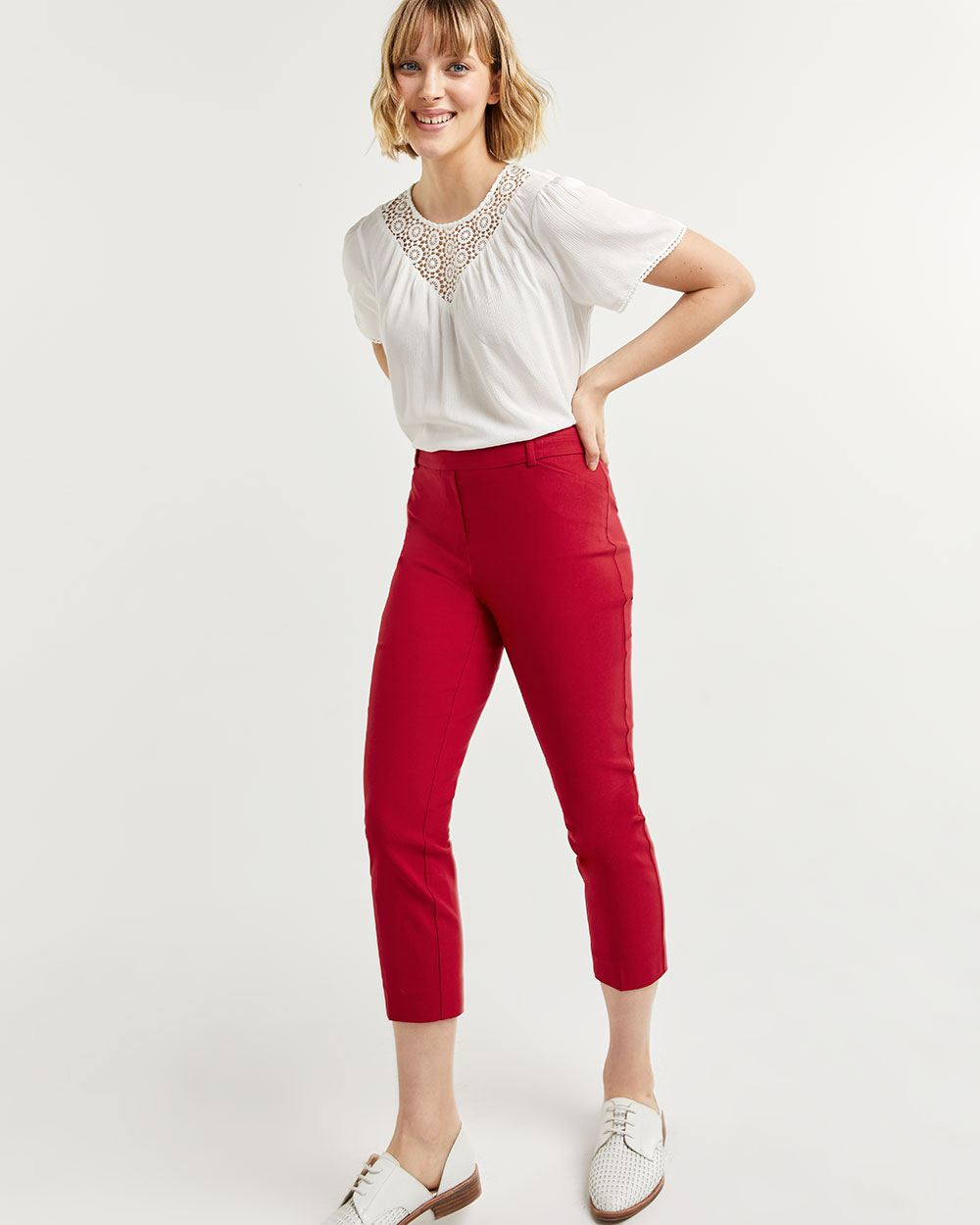 Cropped Pull On Pants The Iconic