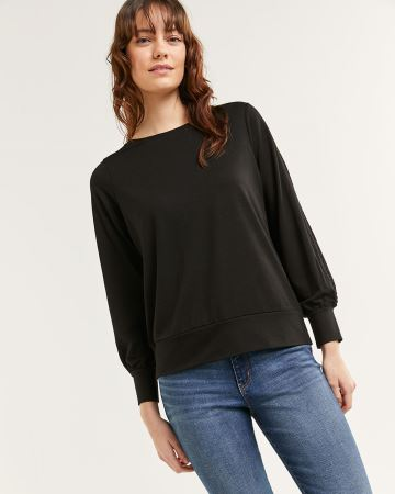 Long Sleeve Boat Neck Sweatshirt