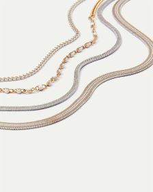 4-Row Painted Chain Necklace