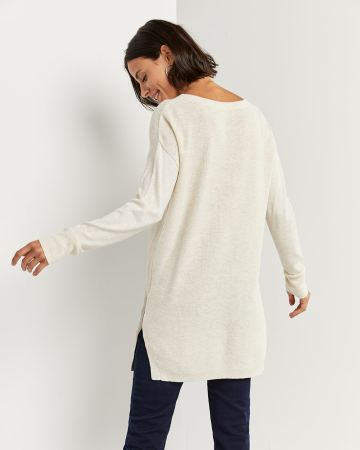 Colorblock Sweater Tunic