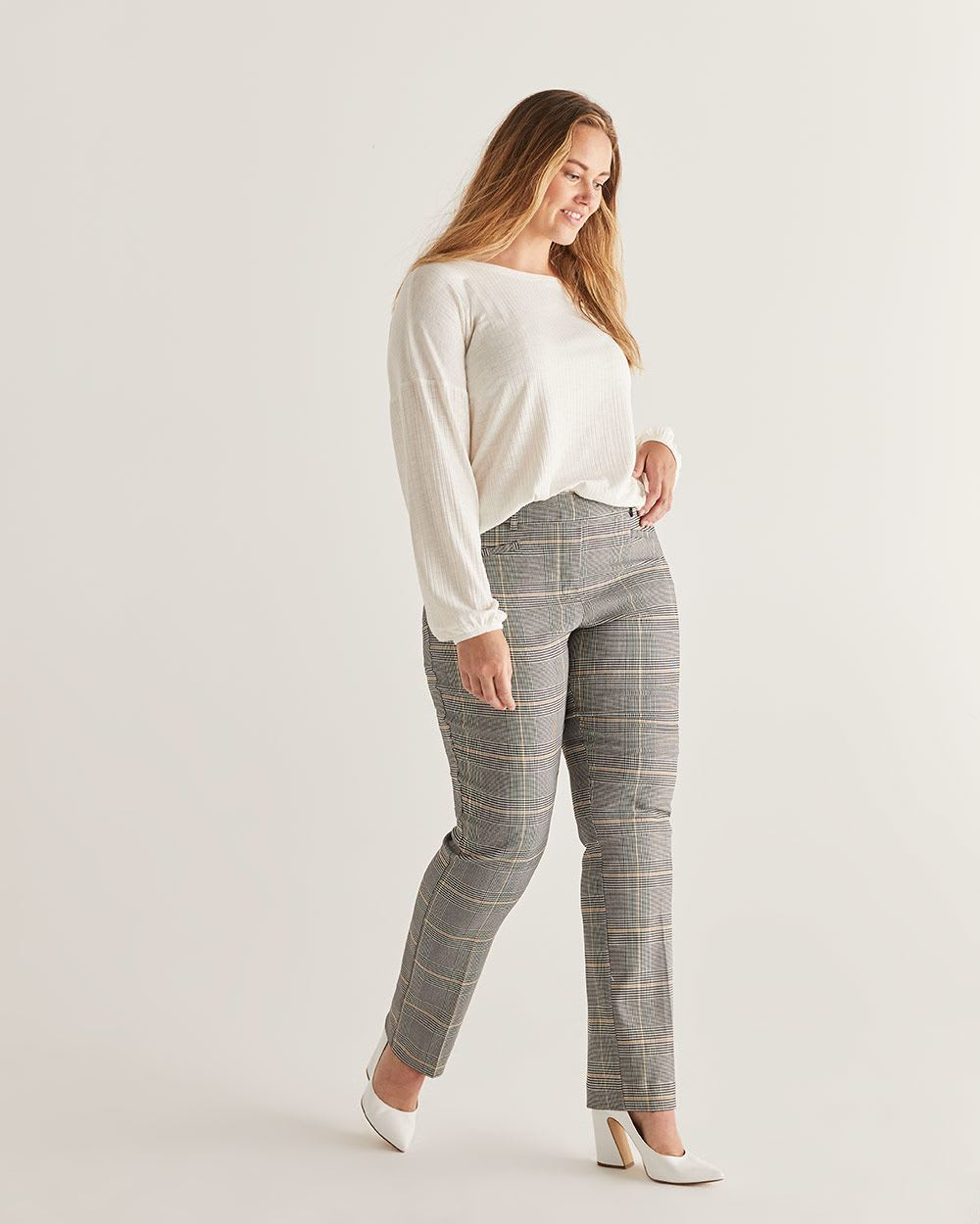 The Iconic Glen Plaid Straight Pull On Pants - Tall