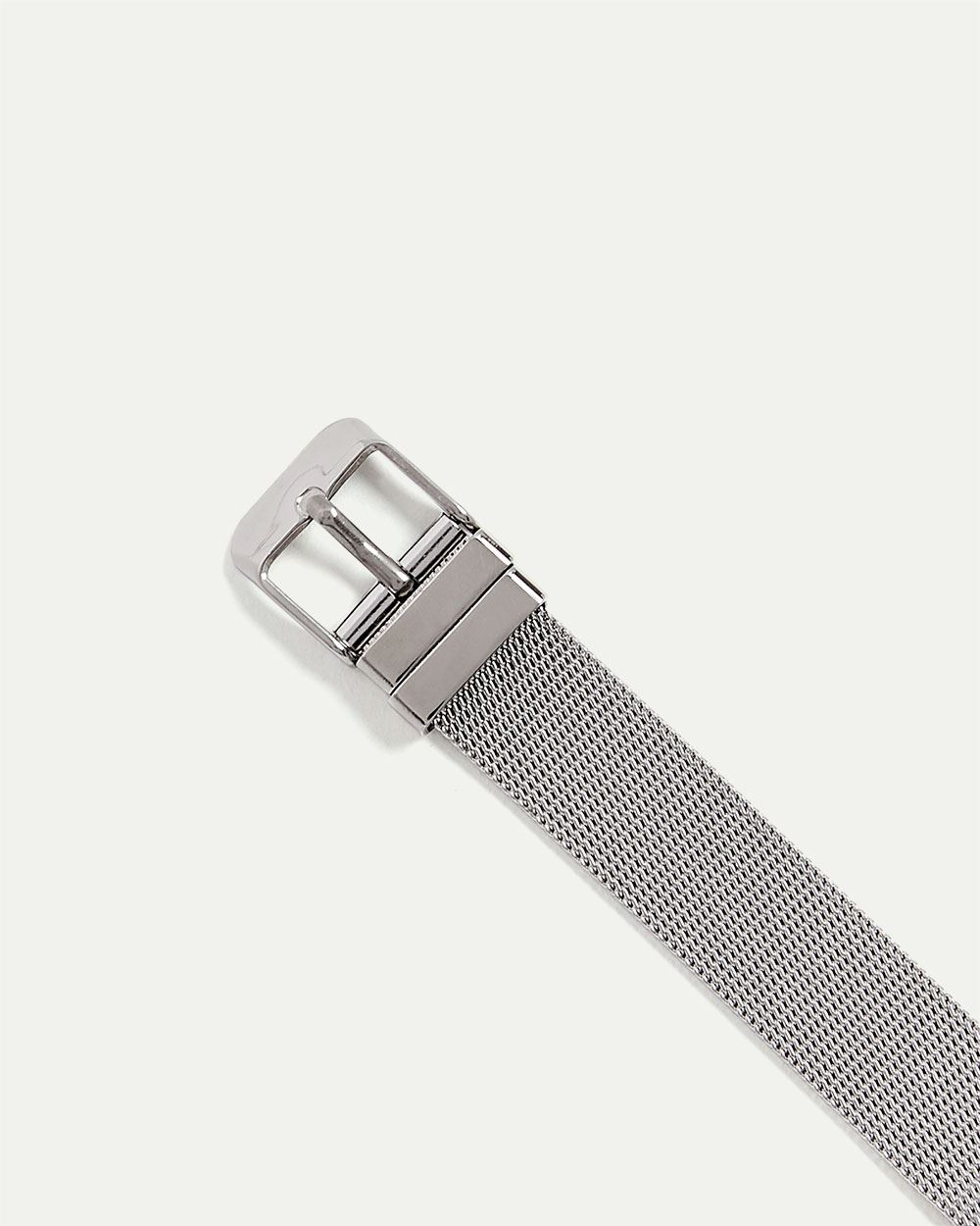 2-Tone Watch with Mesh Band
