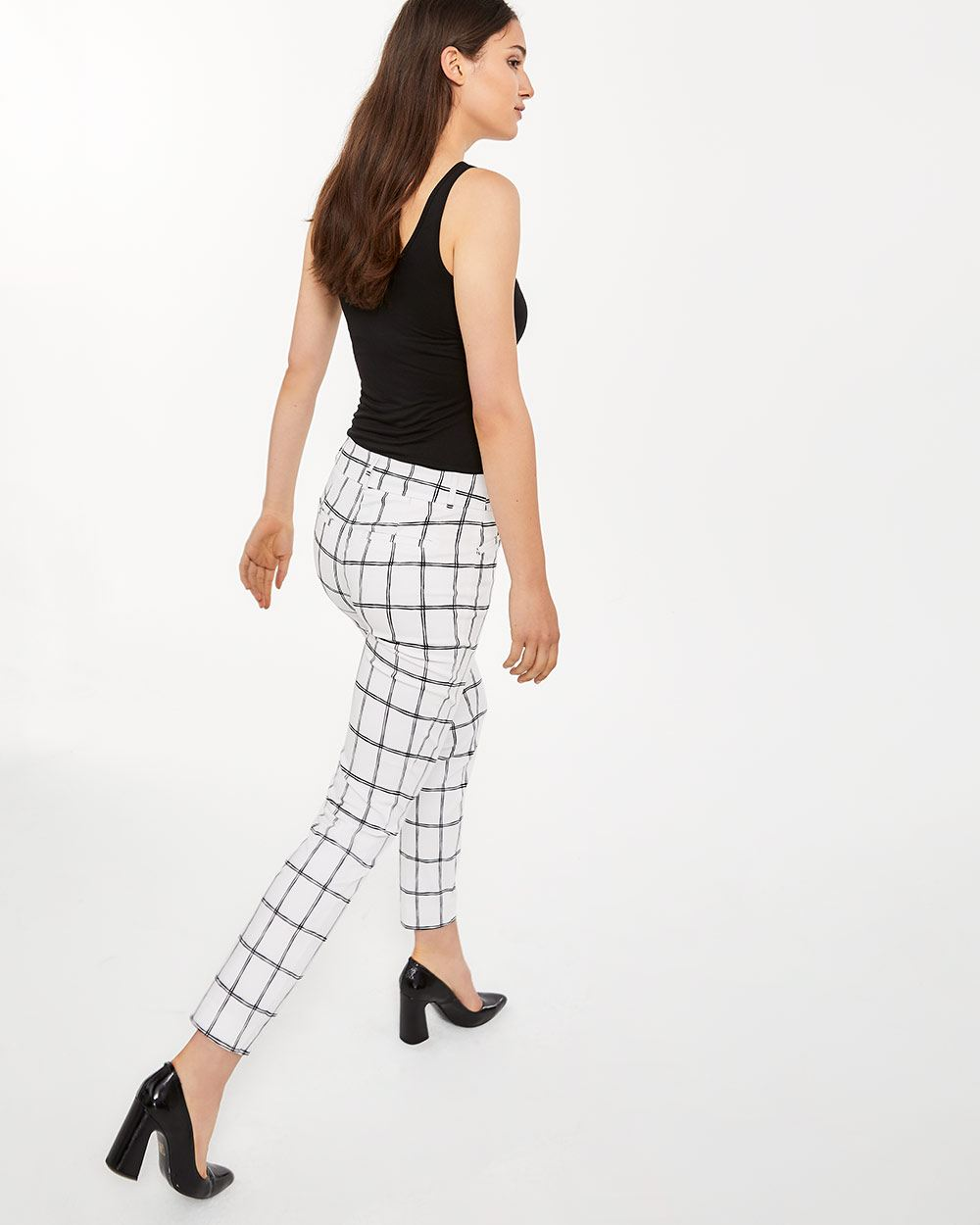 The Tall Iconic Skinny Checkered Ankle Pants