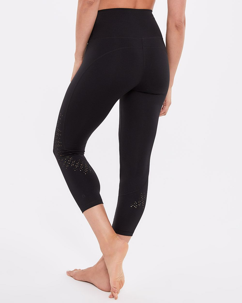 Hyba Laser Cut Cropped Legging