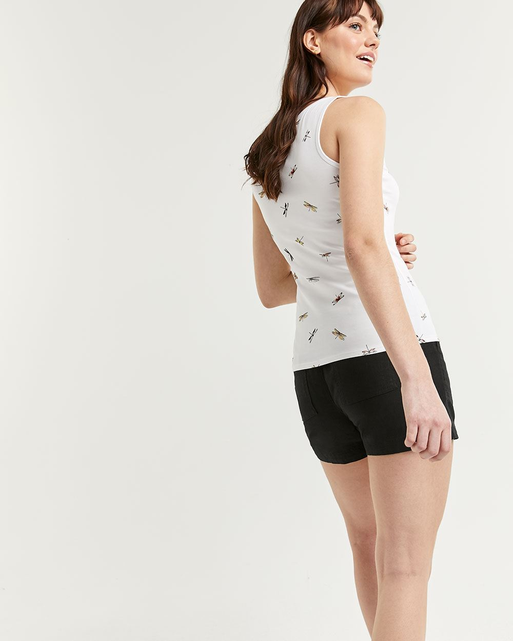 Scoop Neck Printed Tank Top R Essentials