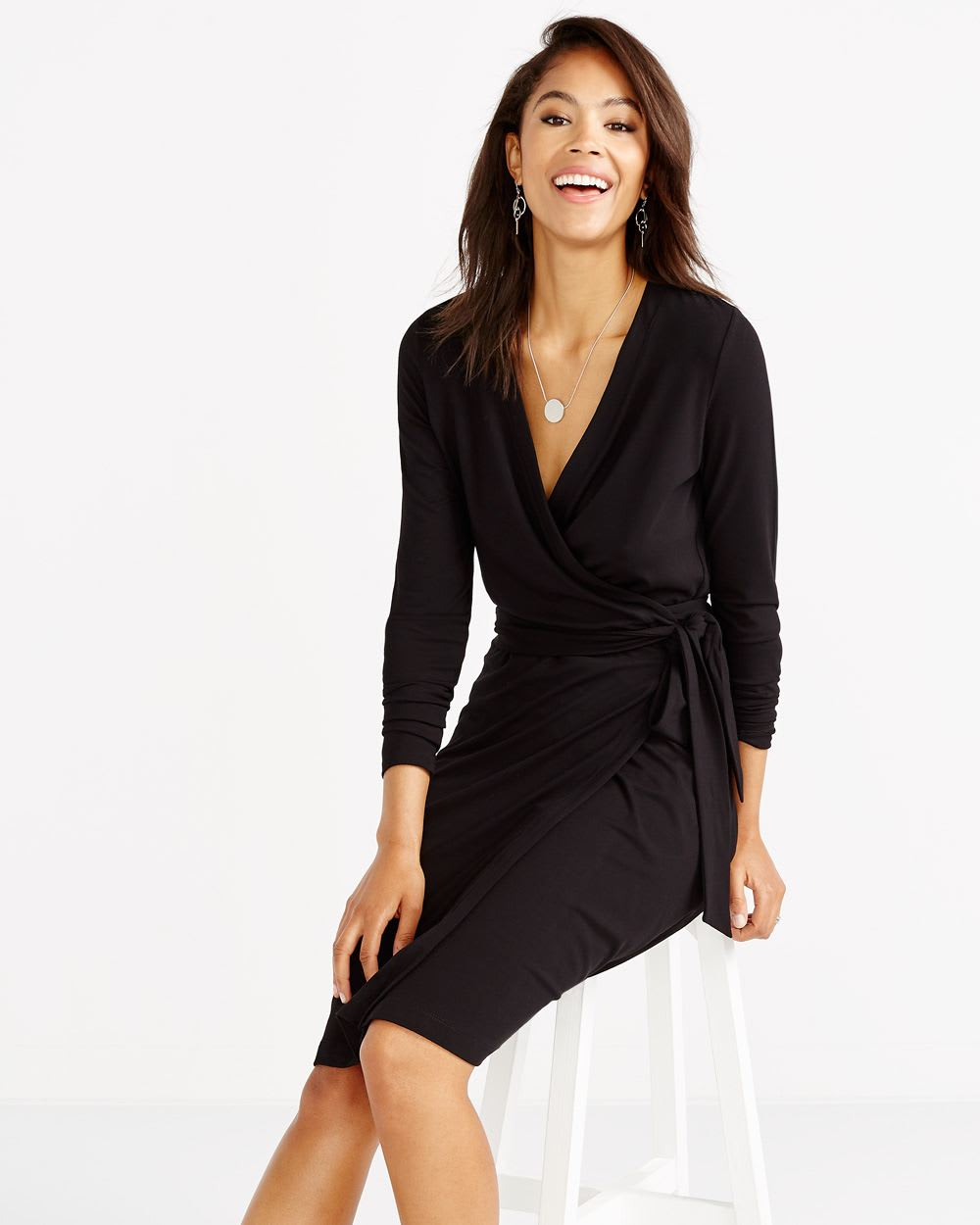 robe cache coeur manches longues femmes reitmans. Black Bedroom Furniture Sets. Home Design Ideas