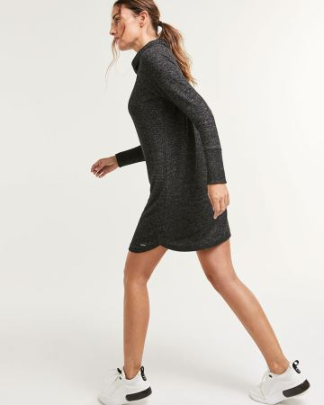 Long Sleeve Brushed Knit Dress Hyba