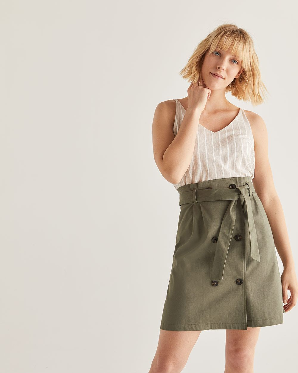 Cotton Paperbag Skirt