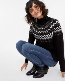 Fairisle Mock Neck Sweater