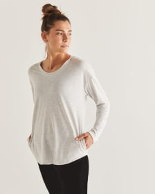 Hyba Hooded Long Sleeve Tee