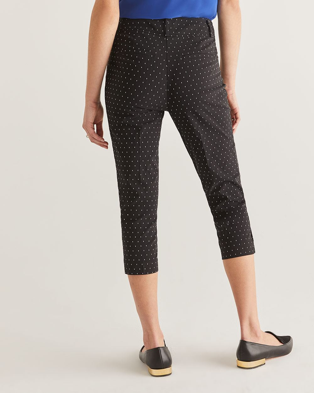 The Iconic Polka-Dot Print Capris - Petite