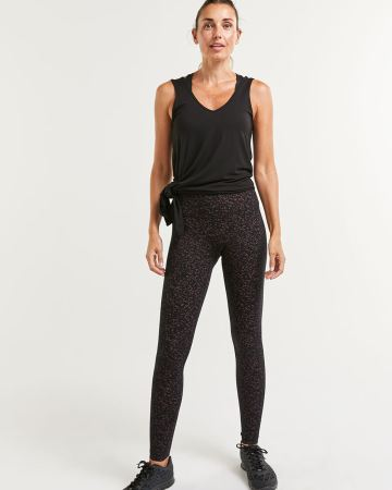 Cotton Blend Namaste Printed Leggings Hyba