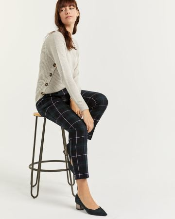 Plaid Peg Leg Pants