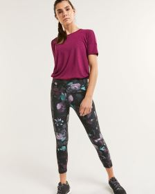 Printed Cropped Leggings with Pockets Hyba