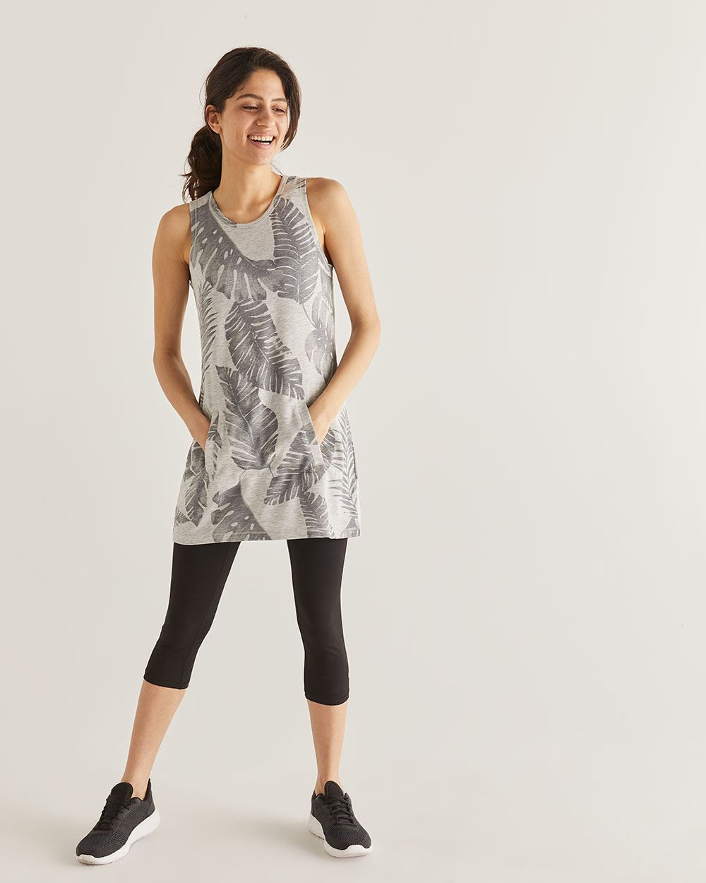 Hyba Printed French Terry Tunic Tank